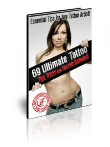 69 ultimate tattoo tips ebook cover